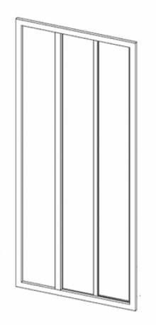 Produktbild: Duschgleittüre  Kunstglas Breite 80 cm x Höhe1880 cm Profile weiss